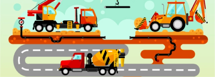 Graphic of road works