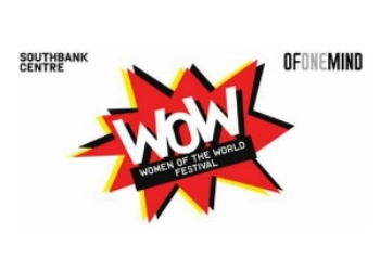 WOW logo with text, Women of the world festival